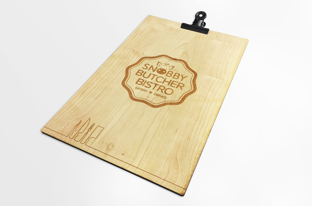 laser cut Johnny Pusztai menu back